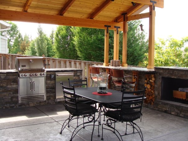 Photo gallery portland or improvement remodeling for Backyard kitchens on a budget